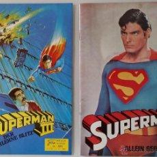 Cine: FOLLETOS-PROGRAMAS SUPERMAN II Y III DE LA FILM NEUER, 1980 Y 1984 / RAROS. Lote 52133341