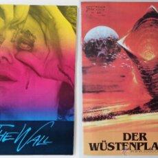 Cine: FOLLETOS-PROGRAMAS THE WALL Y DUNE, DE LA FILM NEUER, 1982 Y 1984 / RAROS. Lote 52140017