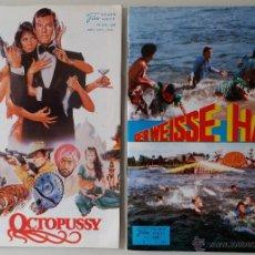 Cine: FOLLETOS-PROGRAMAS OCTOPUSSY Y TIBURÓN 3, DE LA FILM NEUER, 1983 / RAROS. Lote 52140227