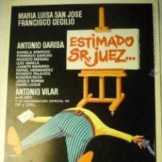 Cine: GUIA DOBLE ESTIMADO SR.JUEZ...MARIA LUISA SAN JOSE. Lote 52156608