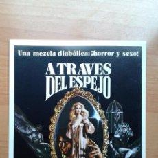 Cine: G1--GUIA DOBLE DE LA PELICULA ..A TRAVES DEL ESPEJO. Lote 195229486