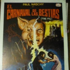 Cine: GUIA EL CARNAVAL DE LAS BESTIAS.-PAUL NASCHY. Lote 53105364