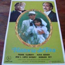 Cine: HISTORIA DE EVA - JOSE LUIS LOPEZ VAZQUEZ, BARBARA REY, KATIA BERGER LAURUS FILMS AÑO 1978. Lote 53433755