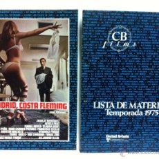 Cine: LISTA MATERIAL CB FILMS 1975-76, . ROLLERBALL, NEW YORK NEW YORK, JAMES BOND... Lote 53768235
