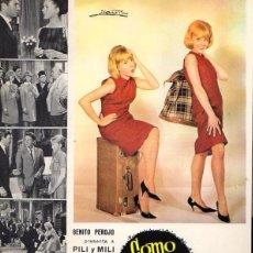 Cine: GUIA PUBLICITARIA COMO DOS GOTAS DE AGUA. PILI Y MILI. AÑO 1964. Lote 53768642