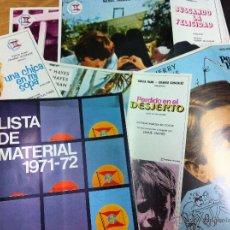 Cine: LISTA DE MATERIAL 1971-72. SUEVIA .8 GUIAS JUEGO COMPLETO. Lote 53828417