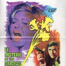 Cine: GUIA PUBLICITARIA EL MISTERIO DE LOS NARCISOS AMARILLOS. CRISTOPHER LEE. JOACHIM FUCHSBERGER. . Lote 53939785
