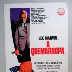 Cine: A QUEMARROPA , LEE MARVIN , 1967 , GUIA PUBLICITARIA CINE -S7. Lote 54106005