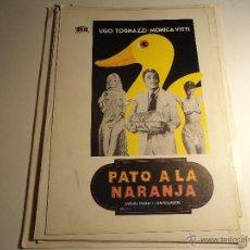 Cine: PATO A LA NARANJA. GUIA PUBLICITARIA. (CA-8). Lote 54212905