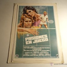 Cine: PASIONES EN JUEGO. GUIA PUBLICITARIA. (CA-8). Lote 54213237