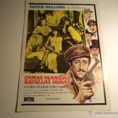 Cine: CAMAS BLANDAS BATALLAS DURAS. GUIA PUBLICITARIA. (CA-9). Lote 54213293