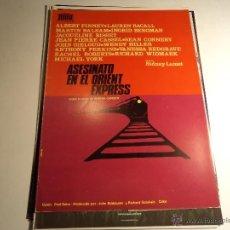 Cine: ASESINATO EN EL ORIENT EXPRESS. GUIA PUBLICITARIA. (CA-9). Lote 54213630