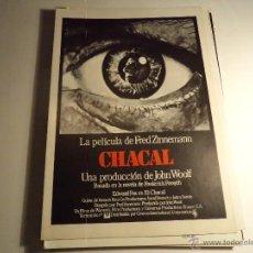 Cine: CHACAL. GUIA PUBLICITARIA. (CA-10). Lote 54213766