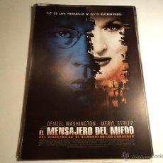 Cine: EL MENSAJERO DEL MIEDO. GUIA PUBLICITARIA. (CA-13). Lote 54256311