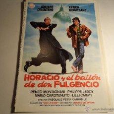 Cine: HORACIO EL BAILON Y DON FULGENCIO. GUIA PUBLICITARIA. (CA-15). Lote 54256759