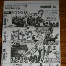 Cine: PROGRAMA CINE CÉNTRICO DE BARCELONA OCTUBRE 1982. Lote 54277505