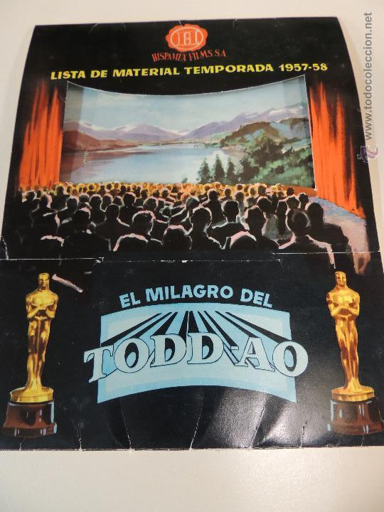 LISTA MATERIAL HISPAMEX TEMPORADA 1957 1958 10 GUIAS PUBLICITARIAS ORIGINALES EN INTERIOR (Cine - Guías Publicitarias de Películas )