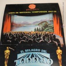 Cine: LISTA MATERIAL HISPAMEX TEMPORADA 1957 1958 10 GUIAS PUBLICITARIAS ORIGINALES EN INTERIOR. Lote 206404817