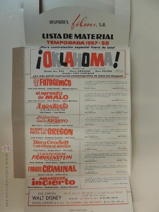 Cine: lista material hispamex temporada 1957 1958 10 guias publicitarias originales en interior - Foto 2 - 206404817