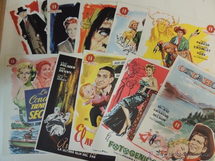 Cine: lista material hispamex temporada 1957 1958 10 guias publicitarias originales en interior - Foto 3 - 206404817