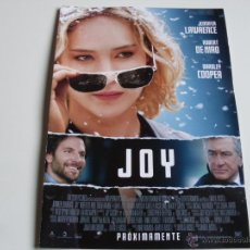 Cine: JOY - JENNIFER LAWRENCE,ROBERT DE NIRO,BRADLEY COOPER - DIR.DAVID O. RUSSELL GUIA ORIGINAL FOX 2015. Lote 194975113
