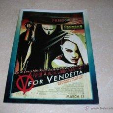 Cine: V DE VENDETTA. PROGRAMA DE CINE. FILMPROGRAMM ALEMÁN. 2005. NUEVO.. Lote 54500161