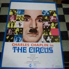 Cine: CHARLES CHAPLIN. EL CIRCO. THE CIRCUS. PROGRAMA DE CINE.. Lote 54608268