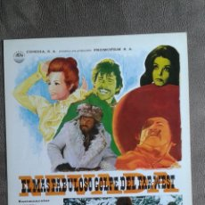 Cine: GUIA DOBLE DE LA PELICULA--EL MAS FABULOSO GLOPE DELFAR-WEST. Lote 54709590