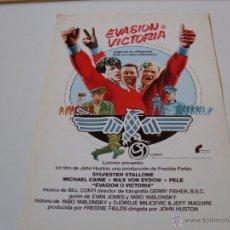 Cine: EVASION O VICTORIA - MICHAEL CAINE, SYLVESTER STALLONE, PELE - DIR. JOHN HUSTON - GUIA FILMAYER 1981. Lote 165394886