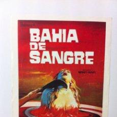 Cine: GUIA PUBLICITARIA BAHÍA DE SANGRE ORIGINAL DE CINE. Lote 55090708