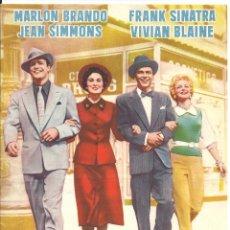 Cine: G6202 ELLOS Y ELLAS MARLON BRANDO FRANK SINATRA JEAN SIMMONS GUIA ORIGINAL AS FILMS ESTRENO. Lote 55104274