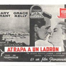 Cine: G6253 ATRAPA A UN LADRON ALFRED HITCHCOCK CARY GRANT GRACE KELLY GUIA ORIGINAL PARAMOUNT ESTRENO. Lote 55116909