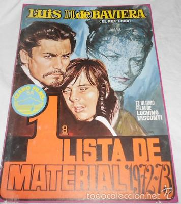 1ª LISTA DE MATERIAL ÍZARO FILMS 1972/73 (Cine - Guías Publicitarias de Películas )