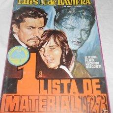Cine: 1ª LISTA DE MATERIAL ÍZARO FILMS 1972/73. Lote 55149907