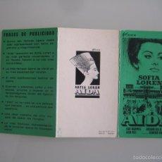 Cine: AIDA SOFIA LOREN PEPLUM GUIA PUBLICITARIA ORIGINAL ESTRENO. Lote 55309926