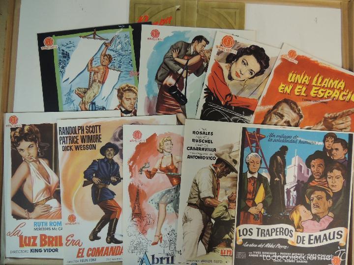 CATALOGO HISPAMEX FILMS 1ª LISTA TEMPORADA 1955 1956 CON 9 GUIAS PUBLICITARIAS ORIGINALES (Cine - Guías Publicitarias de Películas )