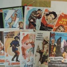 Cine: CATALOGO HISPAMEX FILMS 1ª LISTA TEMPORADA 1955 1956 CON 9 GUIAS PUBLICITARIAS ORIGINALES. Lote 55946105