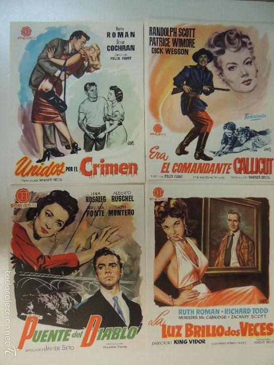 Cine: Catalogo hispamex films 1ª lista temporada 1955 1956 con 9 guias publicitarias originales - Foto 4 - 55946105