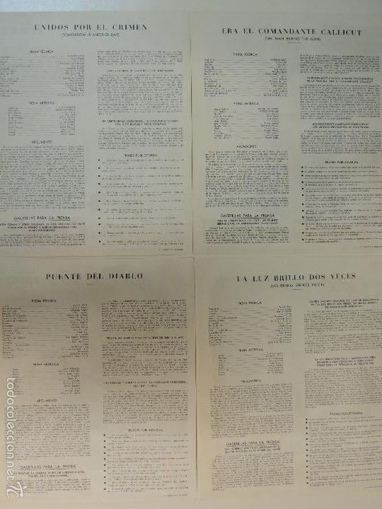 Cine: Catalogo hispamex films 1ª lista temporada 1955 1956 con 9 guias publicitarias originales - Foto 5 - 55946105