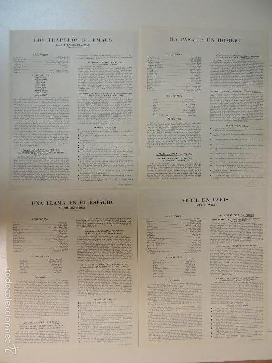 Cine: Catalogo hispamex films 1ª lista temporada 1955 1956 con 9 guias publicitarias originales - Foto 7 - 55946105