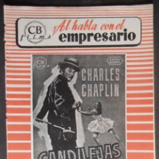 Cine: (1407) CANDILEJAS,CHARLES CHAPLIN,GUIA DE CINE 8 PAGINAS, 24X17 CM APROX, VER FOTOS. Lote 56002107