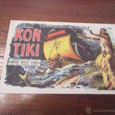 Cine: KON TIKI PROGRAMA SENCILLO MERCURIO DOCUMENTAL. Lote 56096832