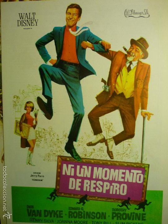 GUIA DOBLE NI UN MOMENTO DE RESPIRO .-DICK VAN DIKE (Cine - Guías Publicitarias de Películas )