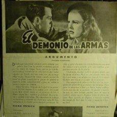 Cine: GUIA DOBLE EL DEMONIO DE LAS ARMAS- JOHN DALL. Lote 56312850