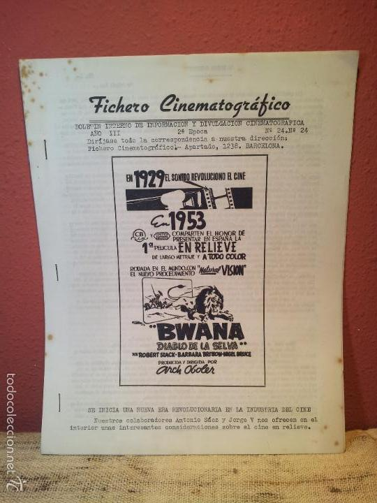 FICHERO CINEMATOGRAFICO 1953 BARCELONA -BOLETIN INTERNO DE INFORMACION Y DIVULGACION (Cine - Guías Publicitarias de Películas )