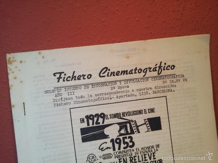 Cine: FICHERO CINEMATOGRAFICO 1953 BARCELONA -BOLETIN INTERNO DE INFORMACION Y DIVULGACION - Foto 2 - 56489705