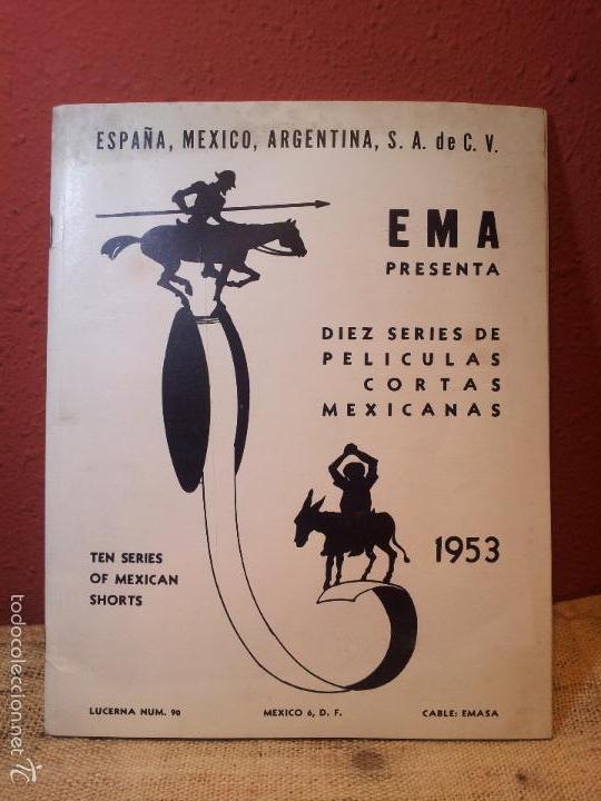 BOLETIN CINEMATOGRAFICO LUCERNA Nº 90 -MEXICO 1953--CABLE E.M.A.S.A -PELICULAS MEXICANAS (Cine - Guías Publicitarias de Películas )