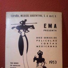 Cine: BOLETIN CINEMATOGRAFICO LUCERNA Nº 90 -MEXICO 1953--CABLE E.M.A.S.A -PELICULAS MEXICANAS . Lote 56490326