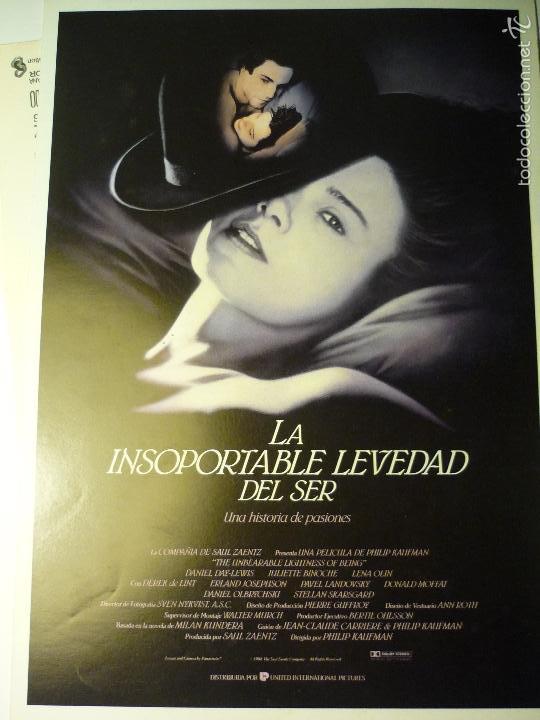 GUIA DOBLE LA INSOPORTABLE LEVEDAD DEL SER-JULIETTE BINOCHE (Cine - Guías Publicitarias de Películas )