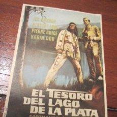Cine: EL TESORO DEL LAGO DE LA PLATA LEX BARKER KARL MAY PIERRE BRICE . Lote 63181694